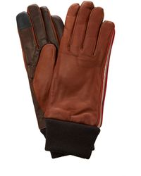 Maison Fabre Cashmere And Wool Cuff Gloves - Brown