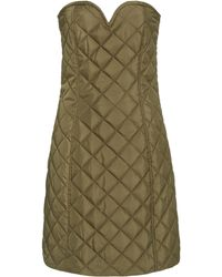 Ganni Recycled Ripstop Quilt Dress - Green