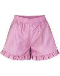 Stine Goya Joselyn Ruffle Hem Short - Pink