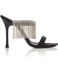 Giuseppe Zanotti - Fringed Crystal-embellished Suede Sandals - Lyst