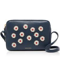 Mansur Gavriel - Floral-appliquéd Leather Shoulder Bag - Lyst