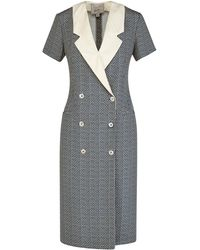 Giuliva Heritage Collection The Clotilde Dress Micro Print Silk - Multicolor