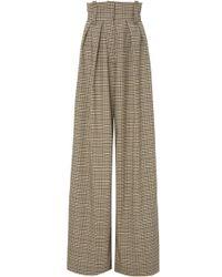 Solace London Orette Checked Wide-leg Pants - Multicolor
