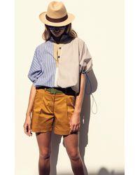 Silvia Tcherassi Solana Mixed-stripe Cotton Top - Multicolour