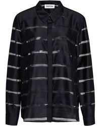 Nellie Partow - Sian Stripe Silk Blend Shirt - Lyst