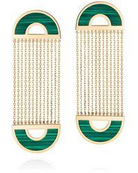 Nevernot 18k Yellow Gold Ready 2 Smile Earrings - Green