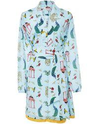 VERANDAH Wrap Tie Mini Dress - Multicolour