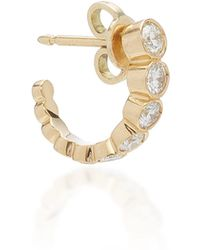 Sophie Bille Brahe - Boucle Ensemble 18k Gold Diamond Hoop Earring - Lyst