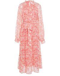brand: Banjanan - Ester Printed Chiffon Maxi Dress - Lyst