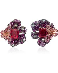 Anabela Chan - M'o Exclusive Ruby Peony Earrings - Lyst