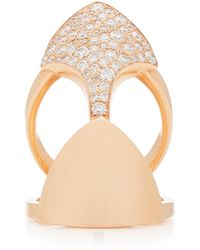 Akillis Python Armor 18k Gold Diamond Ring - Metallic