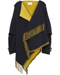 Dorothee Schumacher Colorful Fringed Wool Coat - Multicolour
