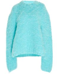 Maison Margiela Wool And Mohair-blend Sweater - Blue