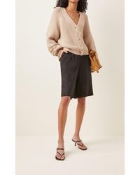 byTiMo Brushed Cotton-blend Knit Cardigan - Brown