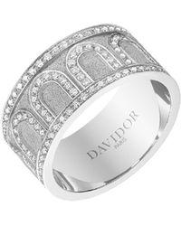 Davidor L'arc 18k White Gold Diamond Ring