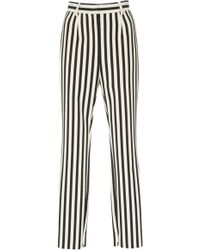 Dolce & Gabbana - Striped Crepe Slim-leg Pants - Lyst