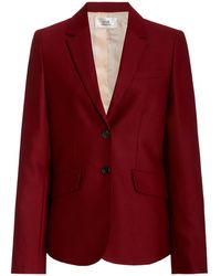 Victoria, Victoria Beckham Single-breasted Wool Tuxedo Jacket - Red