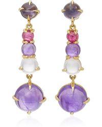 Daria de Koning - Dagny Long 18k Gold Multi-stone Earrings - Lyst