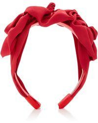 Jennifer Behr - Rosette Silk-faille Headband - Lyst