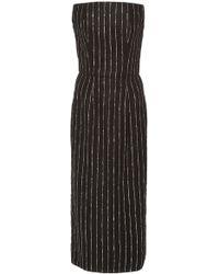 3ed6a651b50c3 Christian Siriano - Metallic Pinstripe Strapless Dress - Lyst
