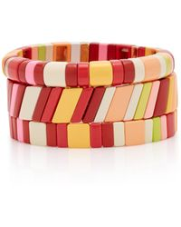 Roxanne Assoulin Set-of-three Negroni Zinc Bracelets - Multicolour