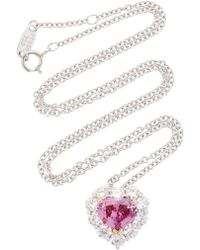 Bayco - Pink Sapphire & Diamond Necklace - Lyst