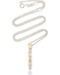 Bayco - Fancy Yellow Diamond & White Diamond Necklace - Lyst