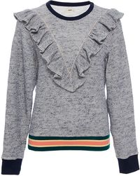 Warm - Ruffle Sweatshirt - Lyst