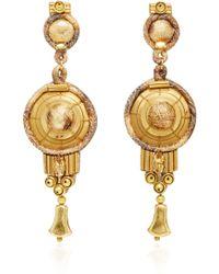 Naeem Khan - Silk Lame Print And Swarovski Crystal Chandelier Earrings - Lyst