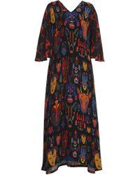 Rianna + Nina - Lilli Fluid Sleeve Silk Dress - Lyst