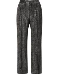 Isabel Marant   Dansley Metallic Straight Leg Cropped Pants   Lyst