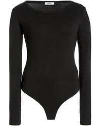 Agolde Leila Modal-blend Bodysuit - Black