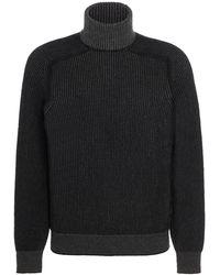Sease Dinghy Ribbed Cashmere Rollneck Jumper - Black
