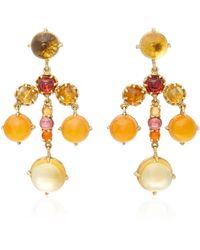 Daria de Koning - Czarina 18k Gold Multi-stone Chandelier Earrings - Lyst