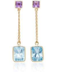 Yi Collection | 18k Gold, Amethyst, And Topaz Earrings | Lyst