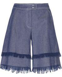 Andrew Gn - Frayed Denim Shorts - Lyst