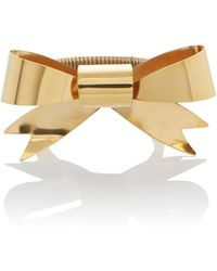 Rodarte Gold Bow Expandable Bracelet - Metallic