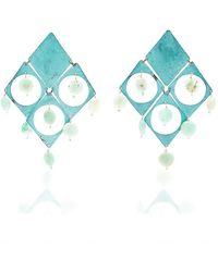 Mercedes Salazar Fiesta Azul Earrings - Blue