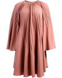 ANOUKI - Pleated Mini Dress - Lyst