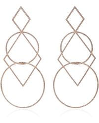Diane Kordas - Diamond Geometric Earrings - Lyst