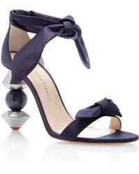 Camilla Elphick Crystal Tips Midnight Sandal - Blue