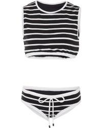 Osklen - Stripe Two Piece Swimsuit - Lyst