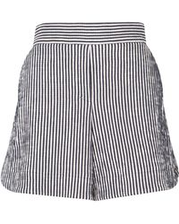 Dorothee Schumacher Textured Stripe Shorts - Blue