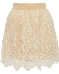 Ezgi Cinar - Unlimited Lace Mini Skirt - Lyst
