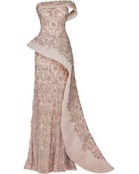 Maison Yeya Alisson Beaded Gown - Pink