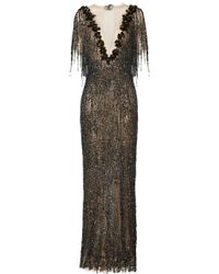 Maison Yeya Fifi Sequined Metallic Gown - Gray
