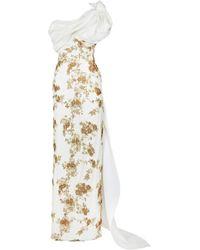 Maison Yeya Nevine One Shoulder Embellished Gown - White