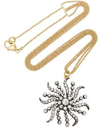 Renee Lewis - Antique Diamond Sunshine Necklace - Lyst