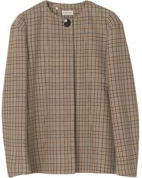 By Malene Birger Shelly Double Face Check Jacket - Multicolour