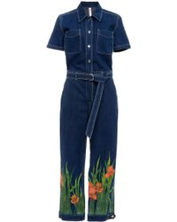 Adam Selman - Belted Coverall Jumpsuit - Lyst